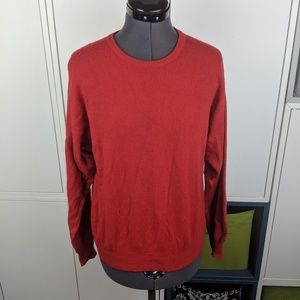 Vintage red cashmere sweater